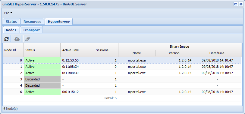 HyperServer Control Panel in Server Monitor